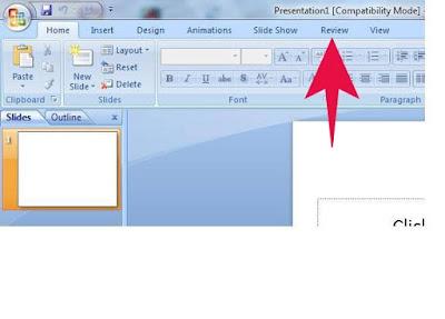 Fungsi Menu REVIEW ( Tools Pada Microsoft Powerpoint )