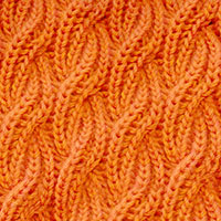 Cable Brioche - Right Cross. The pattern is completely reversible, it looks exactly the same on both sides. - KnittingStitches.org