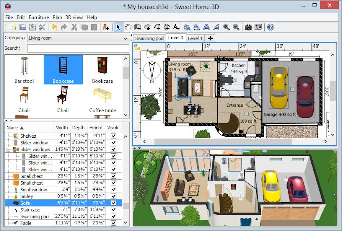 โปรแกรมออกแบบบ้าน 3 มิติ Sweet Home 3D | ดาวน์โหลดฟรี
