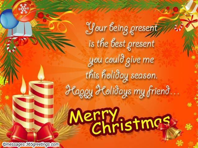 Christmas Greeting Card Messages for Friends