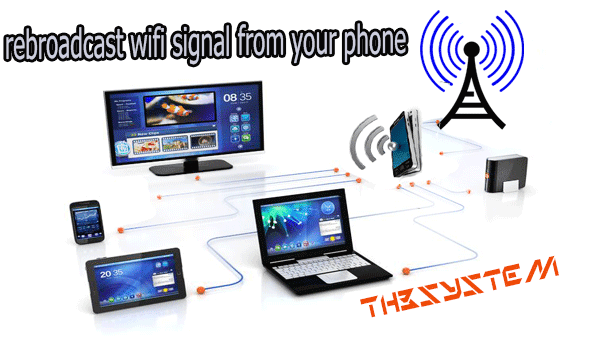 Learn about this applicationYou can strengthen your home WiFi signal across a rebroadcast of your phone.