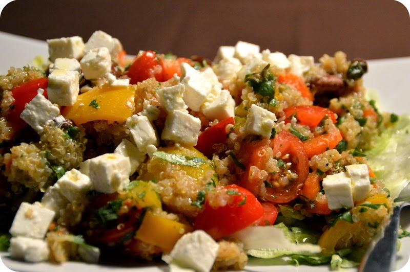 Quinoa Salat mit gebratenem Gemüse