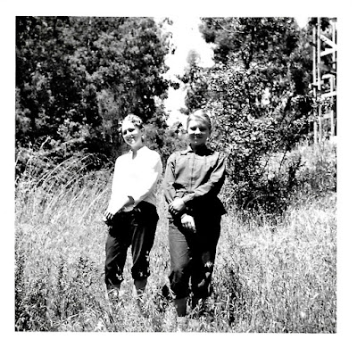 Tanya Sarsfield and Lena Vasilev in Marin County in the mid-1950's.