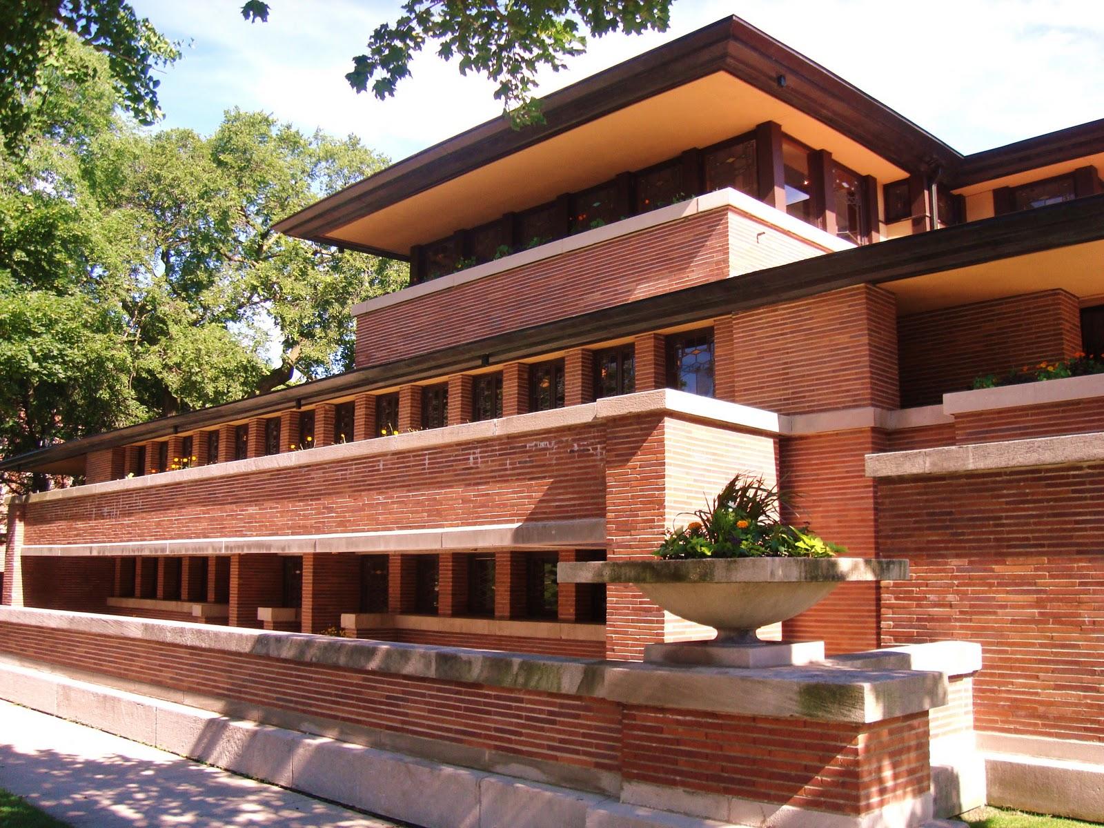 Frank Lloyd Wright Prairie Style Vormleer B5 Robie House Frank Lloyd Wright Week 2