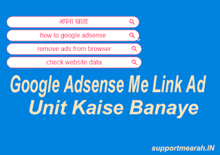 google adsense me link ads unit kaise banaye