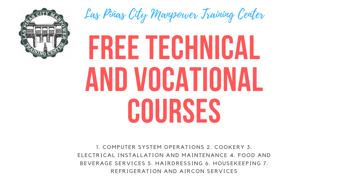 13+ In-demand Tec-Voc Courses by LPCMTC | FREE TRAINING 2019