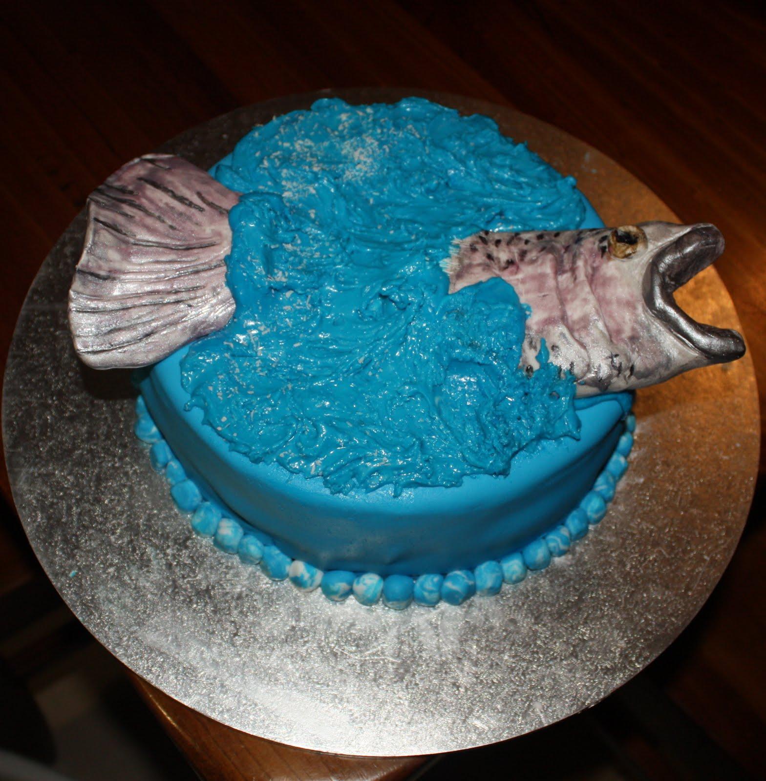 Trout Birthday Cake