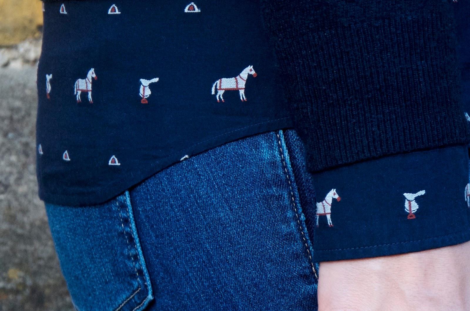 Equestrian horse print shirt