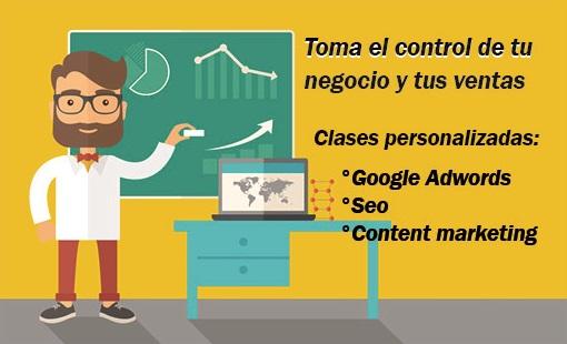 Clases de google adwords, clases de marketing digital y curso de seo