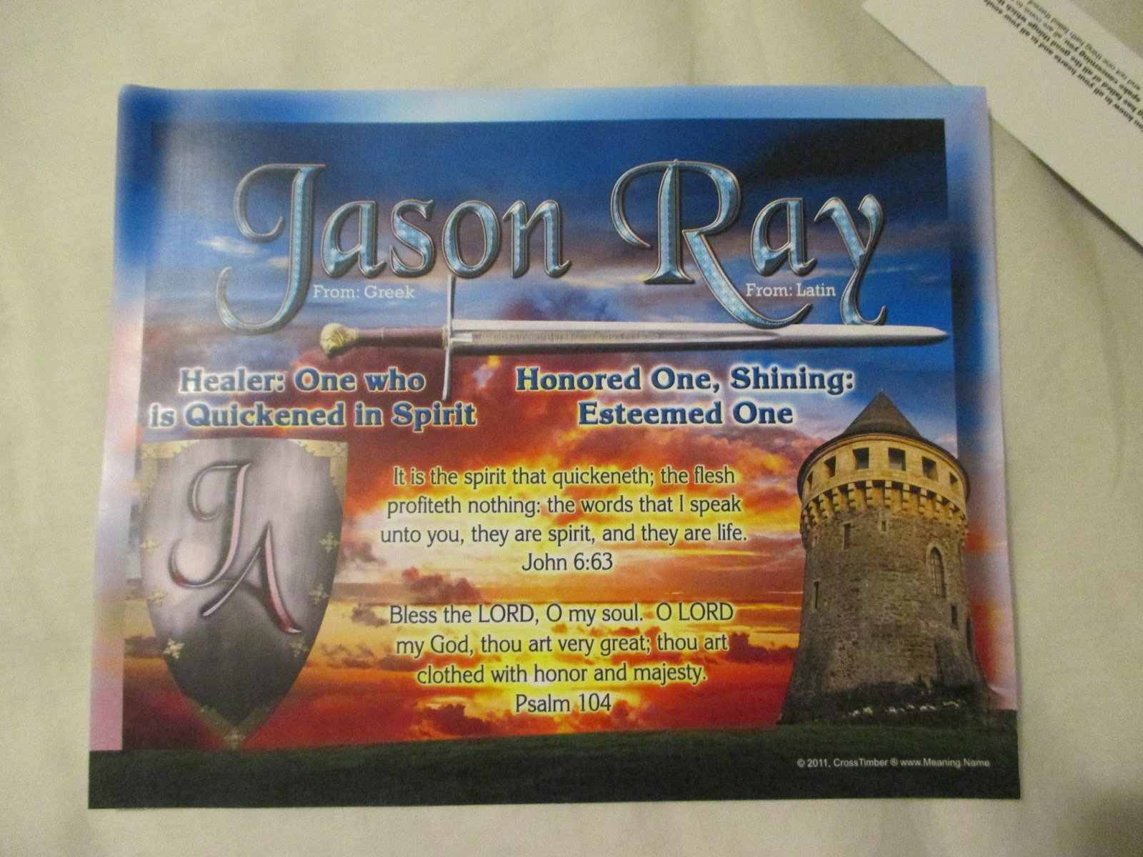 Plaques with name meanings - Hubby S Print
