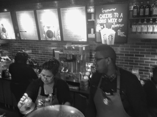 My favorite @Starbucks baristas in action