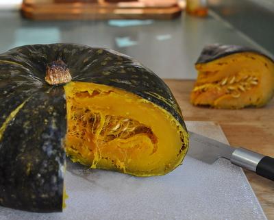 How to Roast a Whole Pumpkin (or Better Yet, Kabocha Squash)  ♥ AVeggieVenture.com