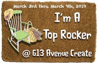 613 Avenue Create, Top Rocker April 2019 (card)