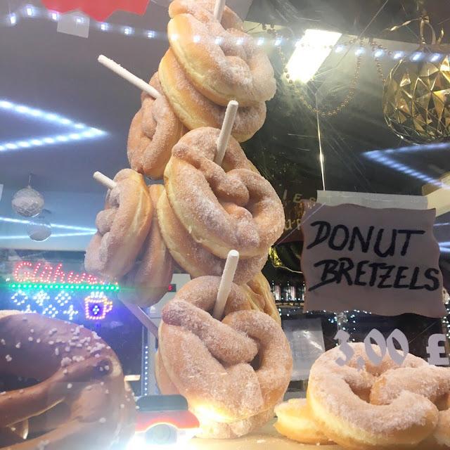 Manchester christmas markets - donut pretzels