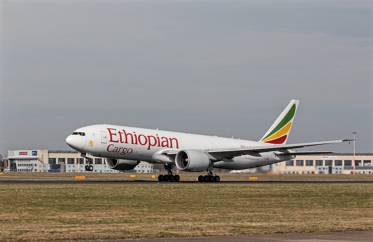 Ethiopian Airlines Receives Boeing 777 Freighter Cargo