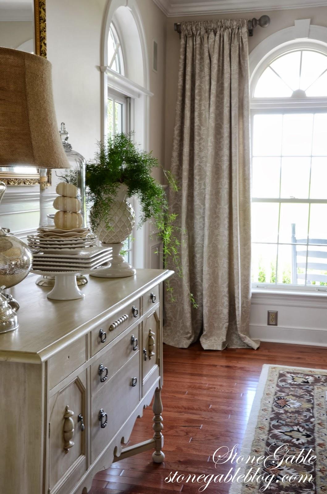 DINING ROOM CURTAINS - StoneGable on Farmhouse:-Cra1Rtrksu= Dining Room Curtains  id=61836
