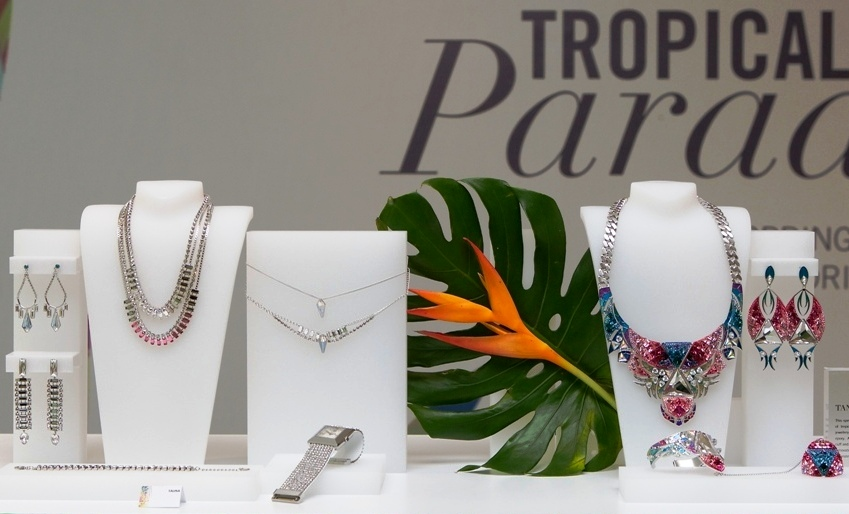 1ffb3655f40 The Swarovski SS13 collection, themed 'Tropical Paradise', is inspired by  the creative energy and vibrancy of the journey from Brazil to Mexico