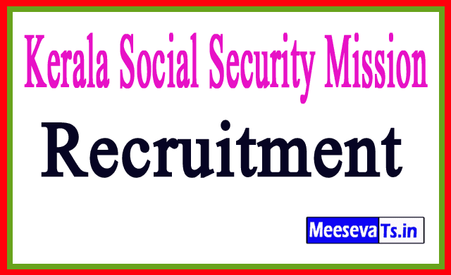 Kerala Social Security Mission KSSM Recruitment