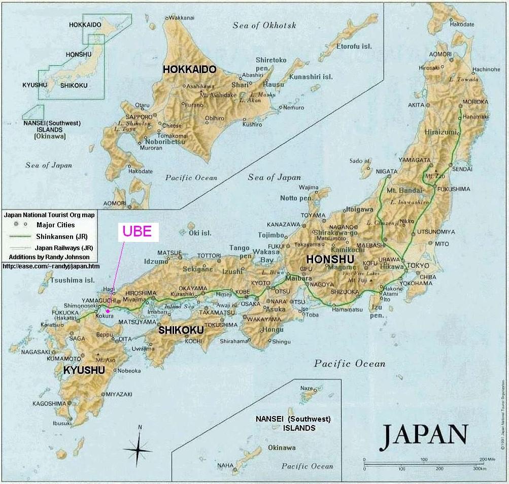 Geografie Japonia