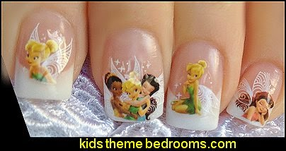 Nail WRAPS Nail Art Water Transfers Decals - Fairy Princess Tinkerbell