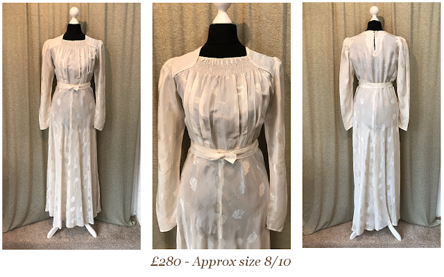 1940s long sleeve vintage wedding dress available from vintage lane bridal boutique bolton manchester
