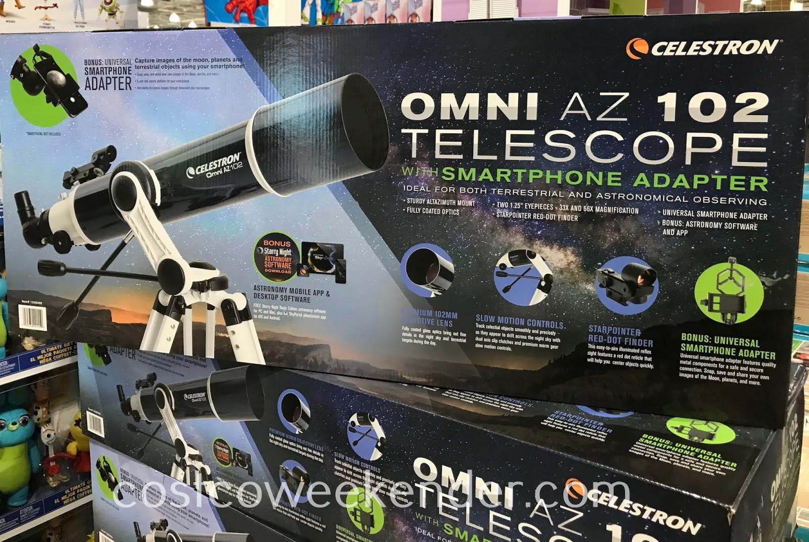 Bring out your inner Galileo and explore the galaxy with the Celestron Omni AZ 102 Telescope