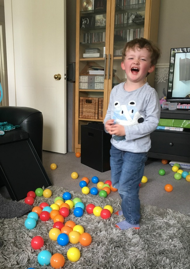 #MySundayPhoto-number-40-happy-birthday-boy-laughing-with-balls-at-his-feet