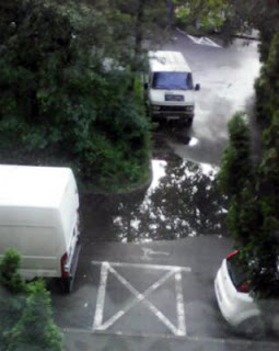 balta dupa asfaltare