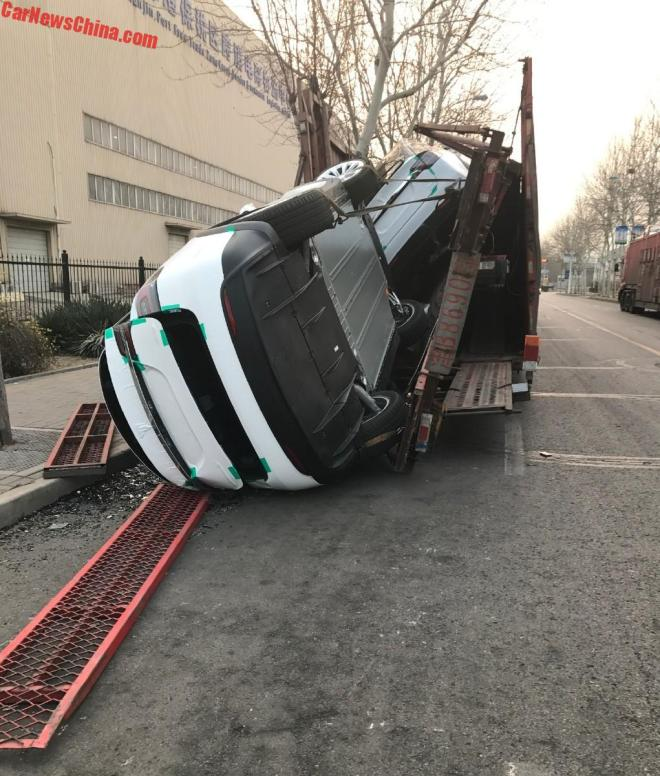 Two Tesla Model Xs Damaged After Chinese Transport Truck ...