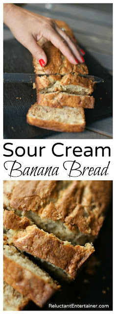 BEST EVER SOUR CREAM BANANA BREAD RECIPE