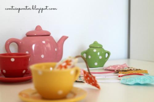 tea bags in fabric