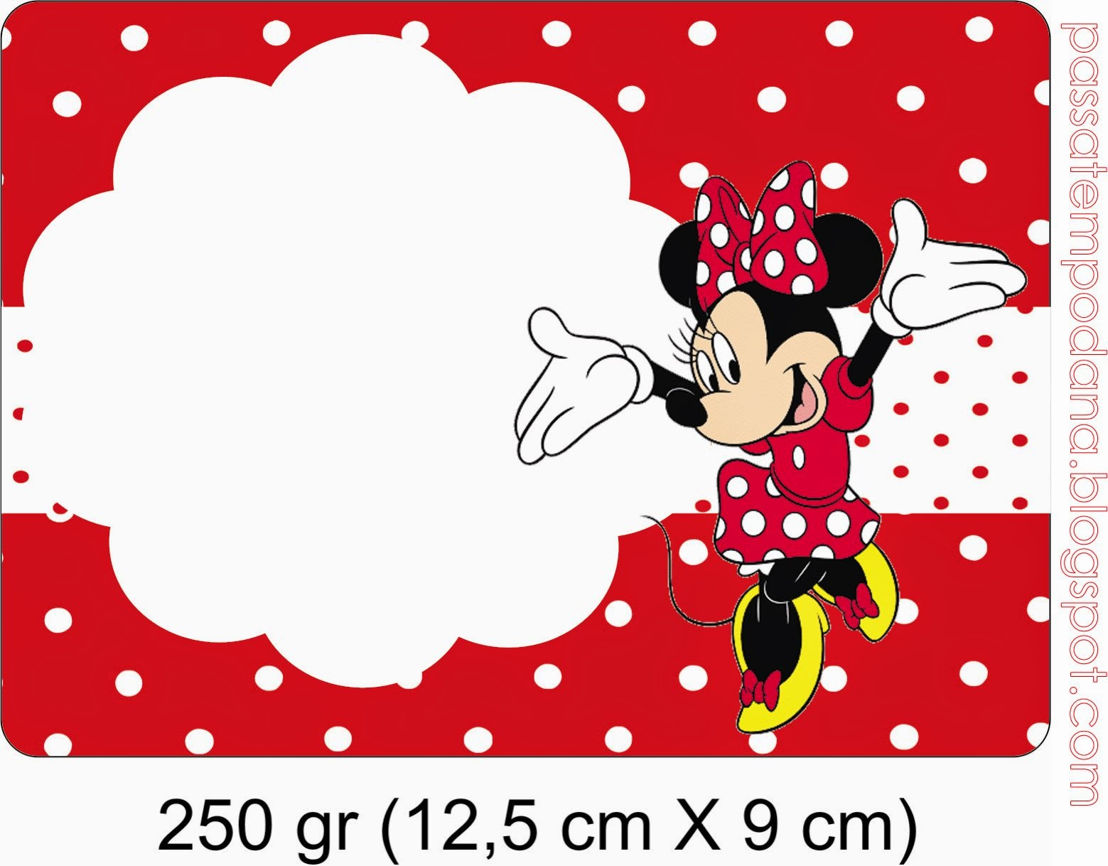 Border Minnie Invitations Mouse Baby