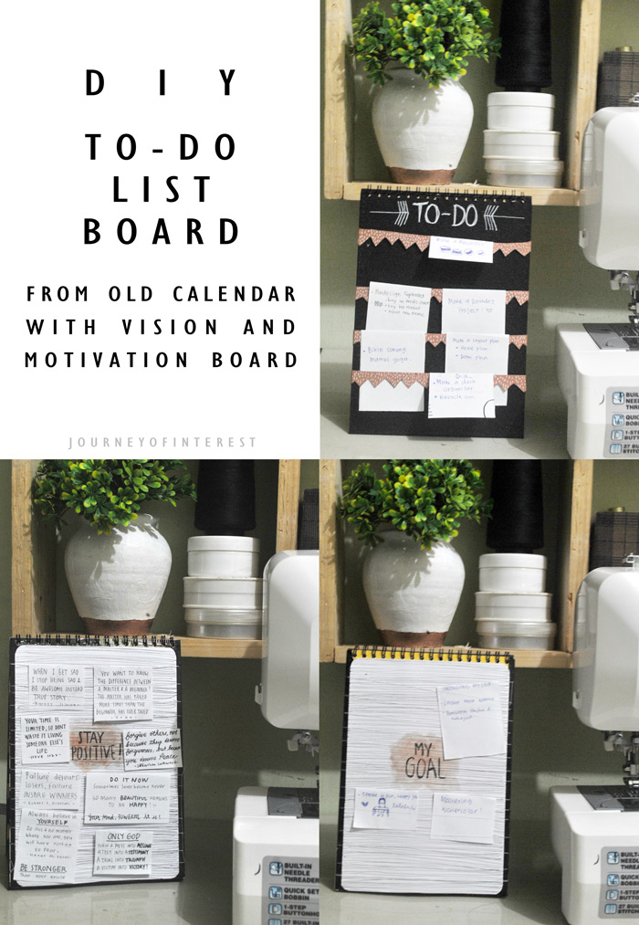 Diy Old Calendar : Diy to do list board from old calendar