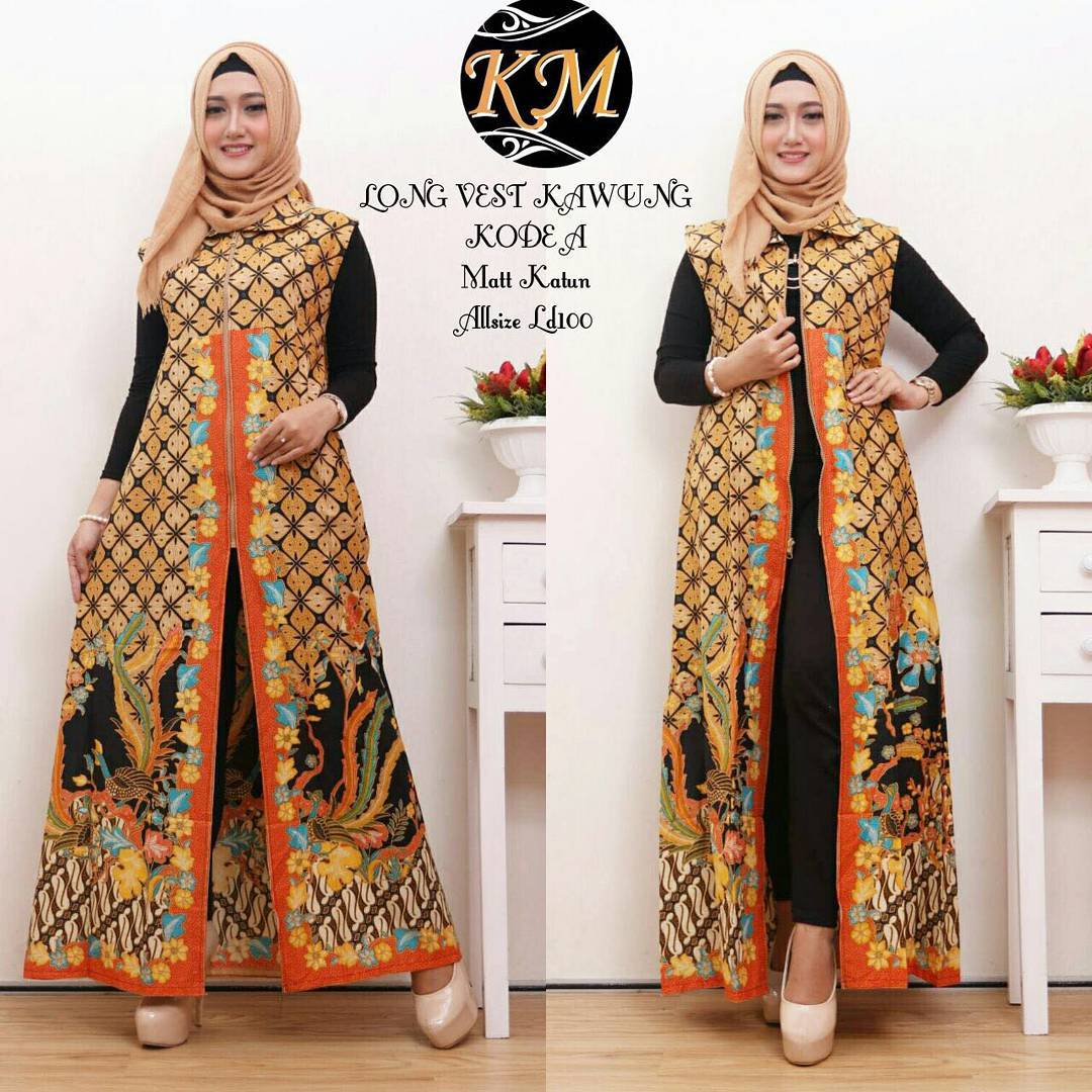 Contoh Baju Batik Wanita Modern Model Dress Batik Terbaru 2018