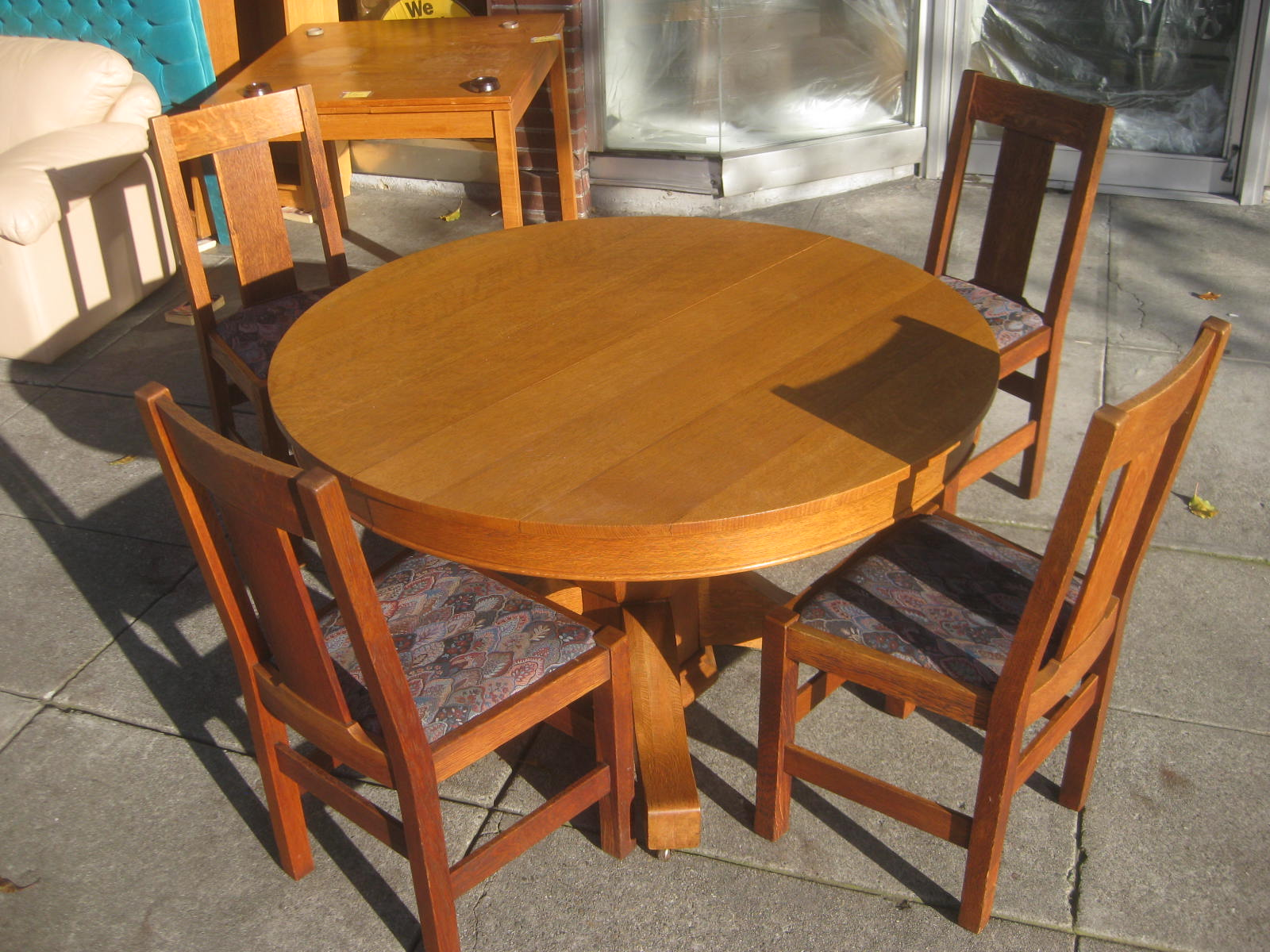 Arts And Crafts Dining Table And Chairs: Dining Table Furniture: Arts And Crafts Dining Table And