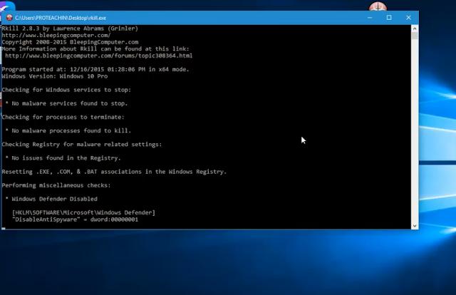 تحميل وشرح أداة Rkill لحذف برامج التجسس والمالور والتروجونات