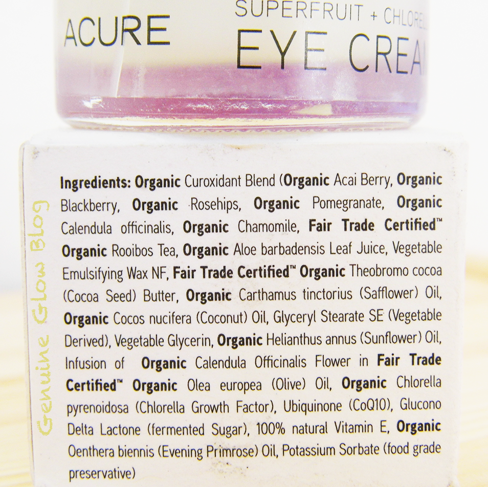 Acure Organics Eye Cream Superfruit & Chlorella