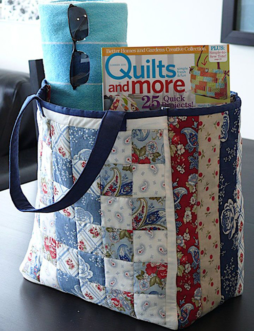 Large Patchwork Tote Free Pattern