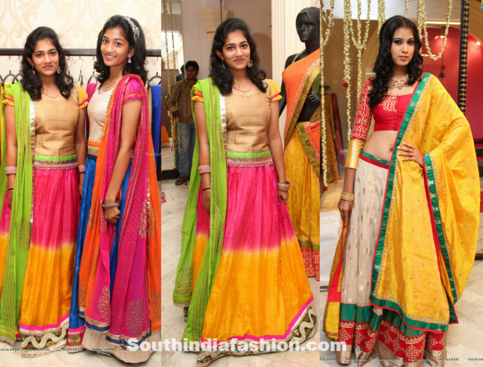 teenagers in lehengas �south india fashion