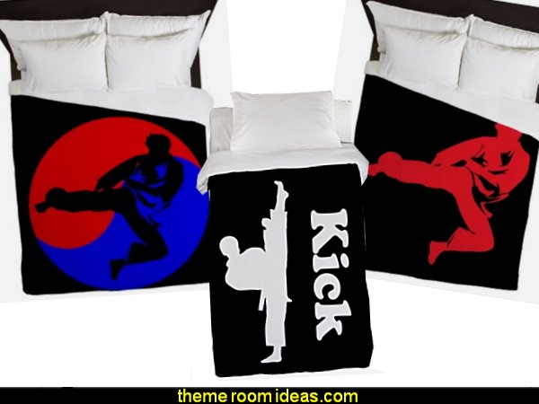 martial arts bedding martial arts duvets   martial arts theme bedrooms - Karate bedroom ideas - Martial Arts bedroom decor - Martial Arts Bedding - Kung Fu Fighting - Oriental style decorating Asian themed - taekwondo