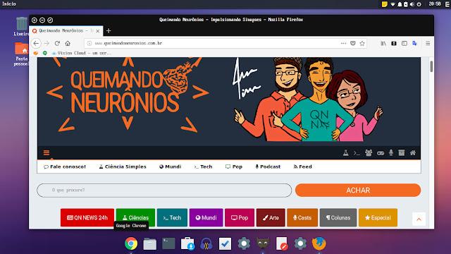Quantum carregado no Ubuntu com a interface Budgie baseada em GNOME