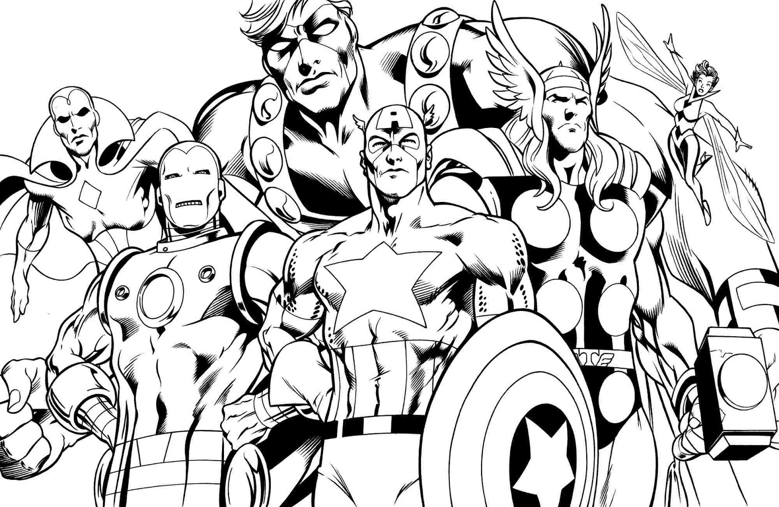 Coloring pages for Avengers coloring pages free