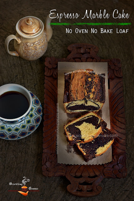 No Bake No Oven Marble Cake Recipe   Chocolate Swirl Bread on stove top