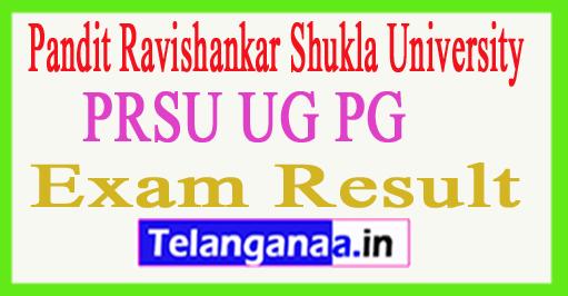 PRSU Result 2018 PRSU UG PG Exam Results