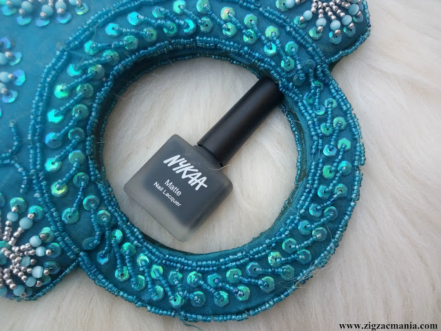 Nykaa Matte Nail Paint Squid ink Mousse Review