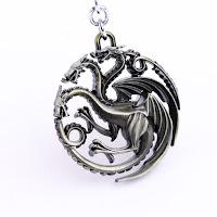 Targaryen keychain silver