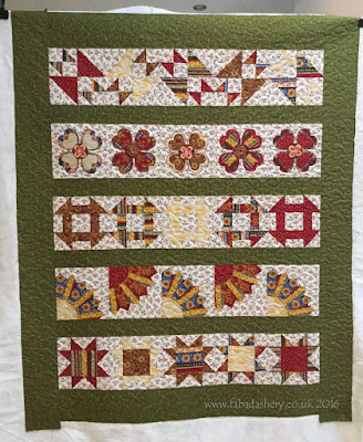Sew A Row Quilt by Sheila