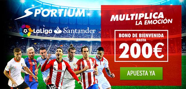 Sportium: Bono para aportar por internet en futbol