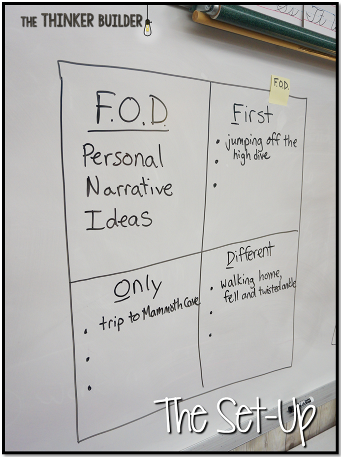 Personal Narratives: What a FOD Idea!