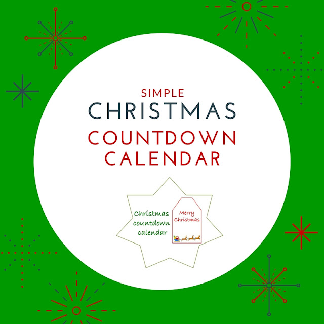 Simple Christmas countdown calendar - free printable